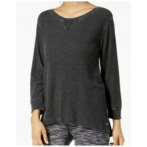 Calvin Klein Active Top 3/4 Sleeve Lace Up Back